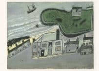 Alfred Wallis The Hold House Port Mear Beach Painting Postcard