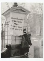 Alison Hopkins New Jersey Suffragette Picketing White House Postcard