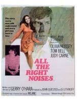 All The Right Noises Olivia Hussey Judy Carne Movie Poster Postcard