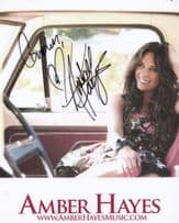 Amber Hayes Country & Western Singer Large Official Hand Signed Photo