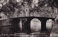 Amsterdam Leidsegracht Real Photo River Old Dutch Postcard
