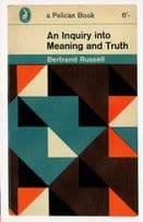 An Inquiry Into Meaning & Truth 1962 Book Postcard