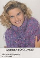 Andrea Boardman Prime Time News Entertainment Today Show Hand Signed Photo