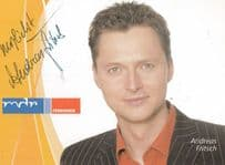 Andreas Fritsch Famous MDR Fernsehen German TV Presenter Hand Signed Card Photo