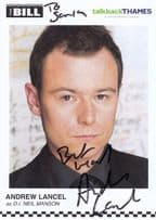 Andrew Lancel as DI Neil Manson ITV The Bill Hand Signed Cast Card Photo