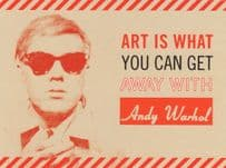 Andy Warhol Art Is What You Can Get Away With Painting Postcard