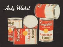 Andy Warhol Campbells Soup Can Cans Painting Postcard
