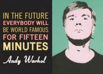 Andy Warhol In The Future Everybody Will Be World Famous Painting Postcard
