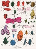 Andy Warhol Insects Happy Bug Day Painting Postcard