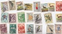 Angola African Birds Animals 30x Stamp Collection