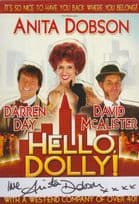 Anita Dobson Eastenders Hello Dolly Hand Signed Cardiff Welsh Theatre Flyer