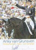 Anky Van Grunsven Dutch Holland Equestrian Horse Champion Hand Signed Photo