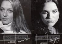 Ann Marie Davies Tiffany Chapman in Brookside 2x Hand Signed Cast Photo s
