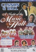Anne Duval Dave Hale Trio with Cannon & Ball Hand Signed Theatre Flyer Handbill