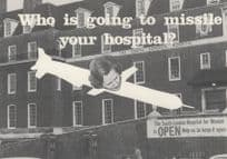Anti Election Margaret Thatcher Tory Missile Your Hospital 1980s Postcard