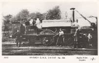 Antique GWR 346 2-4-0 ST Train with Driver Real Photo Postcard