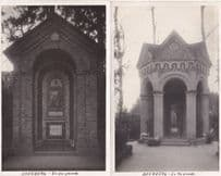 Arenberg Grounds Architecture 2x German Rare Old Real Photo Postcard s