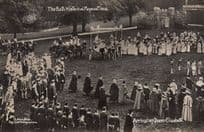 Arrival Of Queen Elizabeth 1909 Bath Pageant Old RPC Real Photo Postcard