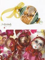 Artifactually Ornamental Glass Toy Doll 2x Advertising Postcard s