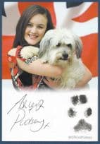 Ashleigh & Pudsey TV Dog Britains Got Talent Hand Signed Photo