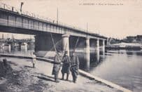 Asnieres Pont Du Chemin De Fer French Military Soldiers Old Postcard