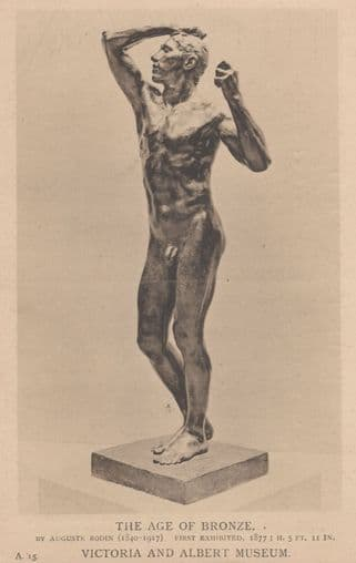 Augustus Rodin The Age Of Bronze London Museum V&A Postcard
