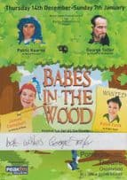 Babes In The Hood Robin Pantomime George Telfer Hand Signed Theatre Flyer