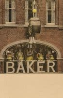 Bakers Clock Gloucester Possibly First Colour Postcard