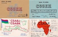 Banjul Gambia 4x Vintage Amateur Radio African QSL Card s