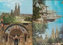 Barcelona Temple Holy Family Square Religious 4x Postcard s