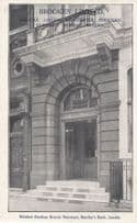 Barclays Bank London Brand New Doors by Builders Antique Advertising Postcard