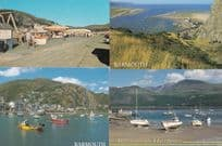 Barmouth Harbour 4x Welsh Nautical Sea Postcard s