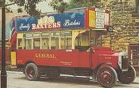 Baxters Butchers Advertising 1920s Bus Postcard