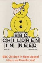 BBC Children In Need Pudsey Bear Official 1996 Postcard