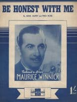 Be Honest With Me Maurice Winnick 1950s Alt Cover Sheet Music