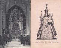 Belgium Anvers Eglise Our Lady Of Vierge Marie Religious 2x Old Postcard s