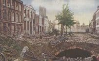 Belgium Ypres The Cattle Market Passed By Censor WW1 Postcard
