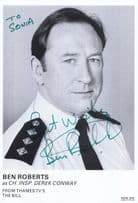 Ben Roberts as Insp Derek Conway in ITV The Bill Hand Signed Cast Card Photo
