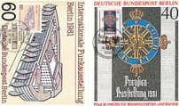 Berlin International Post Office Mail Exhibition First Day Cover Stamp Postcard