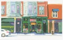 Bicycle at Myopic Books Chicago Illionois Shop Bookstore Oil Painting Postcard