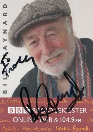 Bill Maynard Heartbeat Radio Leicester Rare Hand Signed Cast Card Photo
