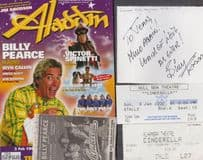 Billy Pearce Live At Bradford Hull Theatre Cinderella Hand Signed Flyer Bundle
