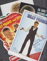 Billy Pearce of New Faces Risque Adult Show 3x Theatre Flyer incl Hand Signed