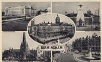 Birmingham Fire Station Colmore Row Civic Centre Real Photo Postcard