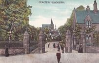 Blackburn Cemetary Lancashire Lancs Antique Postcard
