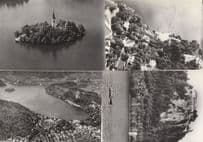 Bled Slovenia 4x Vintage Aerial Real Photo Postcard s