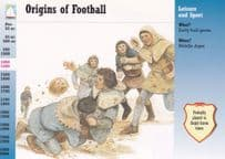 Bloody Medieval Origins Of Football Postcard Style Trading Card Ephemera