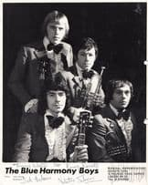Blue Harmony Boys The Vagabonds Sheffield 1970s Hand Signed Photo