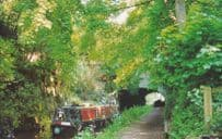 Boat at Cowley Tunnel Shropshire Union Canal Postcard