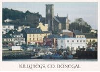 Boats at Killybegs Co Donegal Ireland Old Satellite Dish Postcard